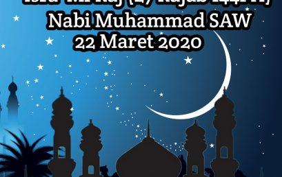 Isra' Mi'Raj (27 Rajab 1441 H)