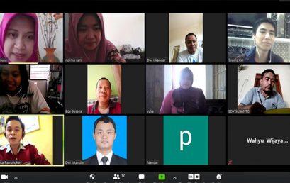 Ikuti Aturan WFH, Politeknik Indonusa melakukan Rapat Secara Online