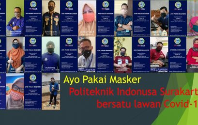 Gerakan Pakai Masker Civitas Akademika Politeknik Indonusa Surakarta