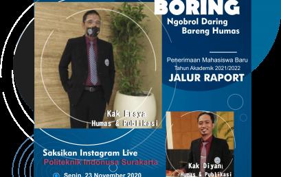 Boring : Ngobrol Daring Bareng Humas