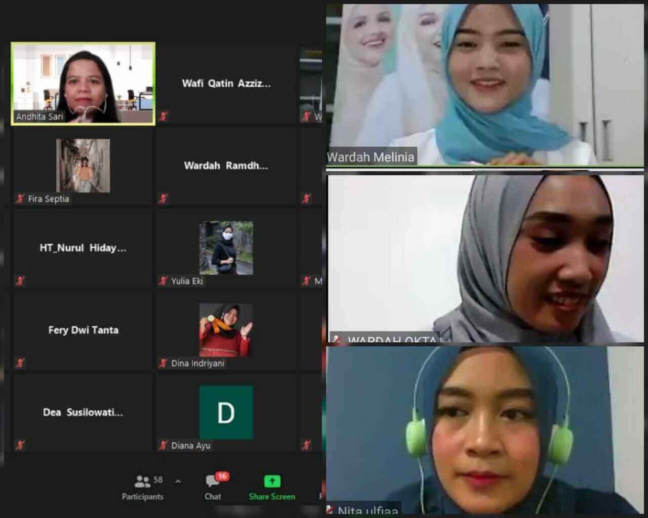 Virtual Class Bersama Wardah