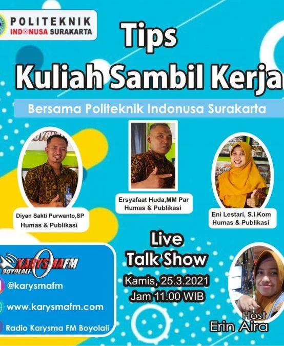 Talkshow 'Kuliah Sambil Kerja'