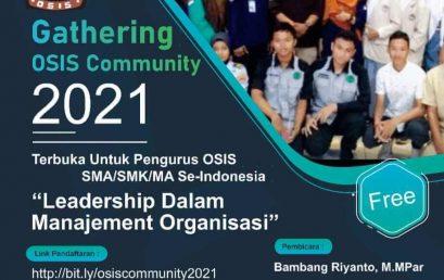Gathering OSIS Community 2021