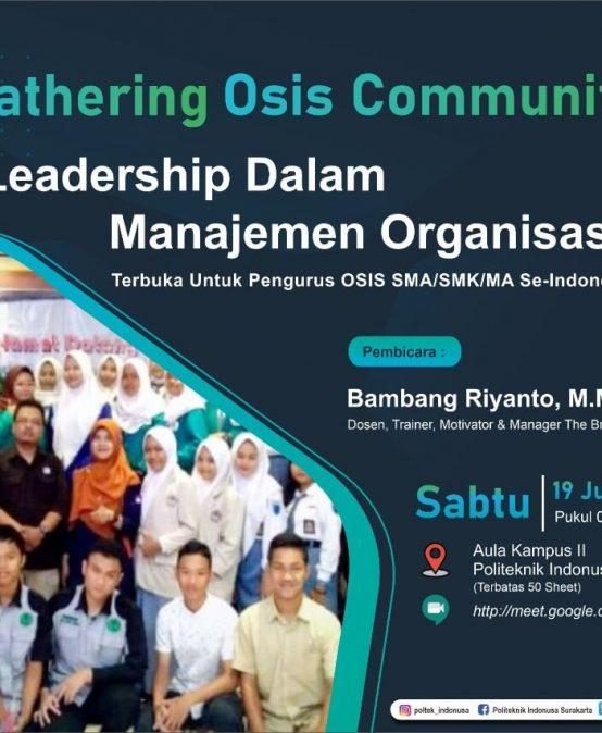 Gathering OSIS Community 2021 Se-Indonesia