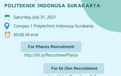 Open Recruitment in Campus Politeknik Indonusa Surakarta