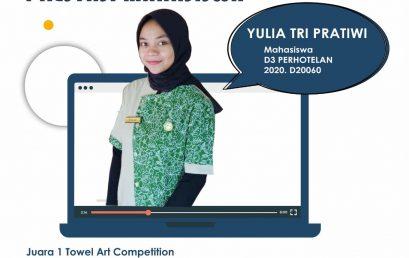 Mahasiswa Perhotelan Politeknik Indonusa Meraih Juara 1 Towel Art
