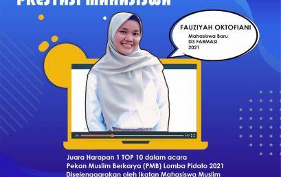 "Juara Harapan 1 ""Pekan Muslim Berkarya (PMB) Lomba Pidato 2021"""