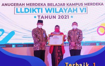 Terbaik 1 Anugerah MBKM 2021 LLDIKTI Wilayah VI