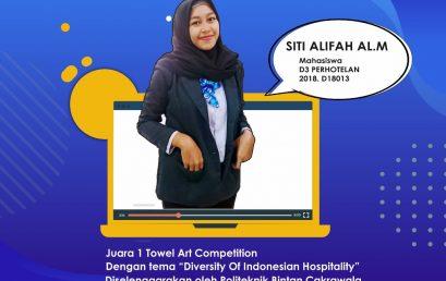 Mahasiswa D3 Perhotelan Meraih Juara 1 Kompetisi Towel Art