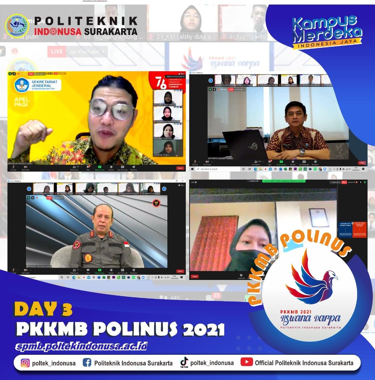 Masuk Hari Ketiga PKKMB Polinus 2021