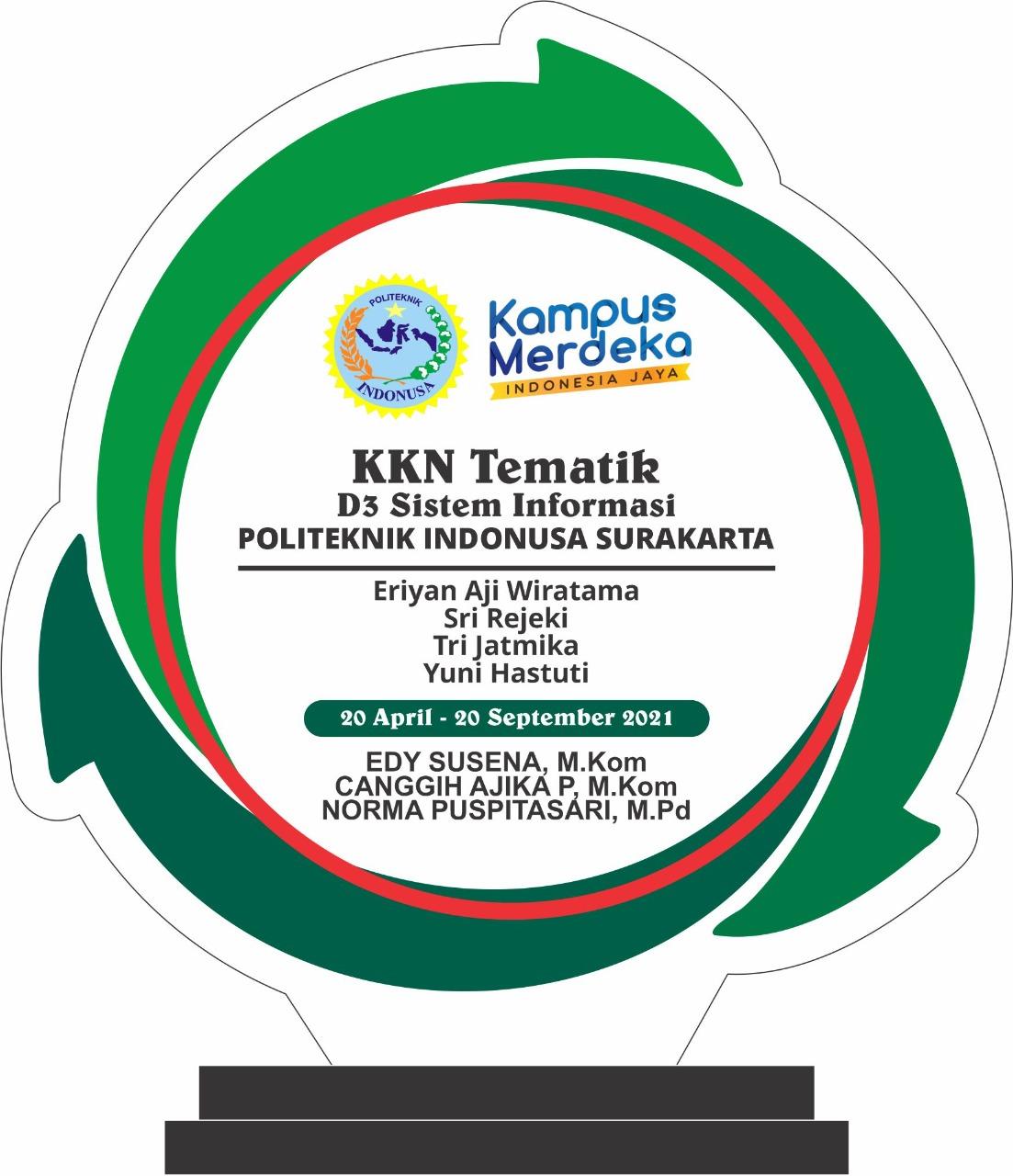 Puncak Kegiatan Mahasiswa KKN Tematik D3 Sistem Informasi Politeknik Indonusa Surakarta