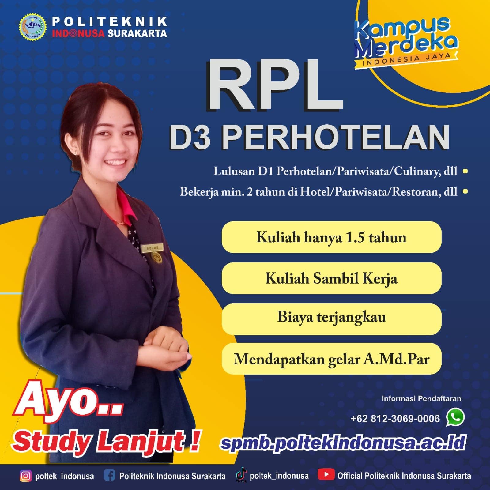 Kelas RPL D3 Perhotelan