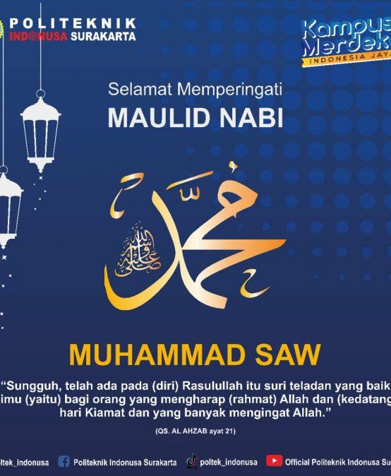 Memperingati Hari Maulid Nabi Muhammad SAW 12 Rabiul Awal 2443 H